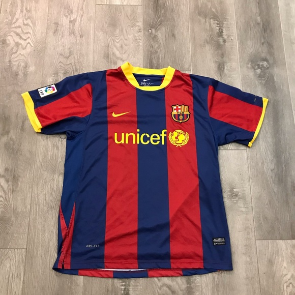 Nike Shirts Fc Barcelona Lionel Messi Unicef Jersey Large Poshmark